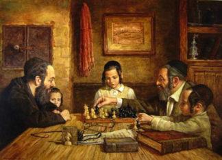 Szachowa partia. Autor - Boris Dubrov (Izrael, urodzony w 1979 w Rosji).