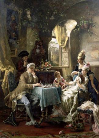 Szachiści. Autor - Carl Herpfer (1836 – 1897,Niemcy).