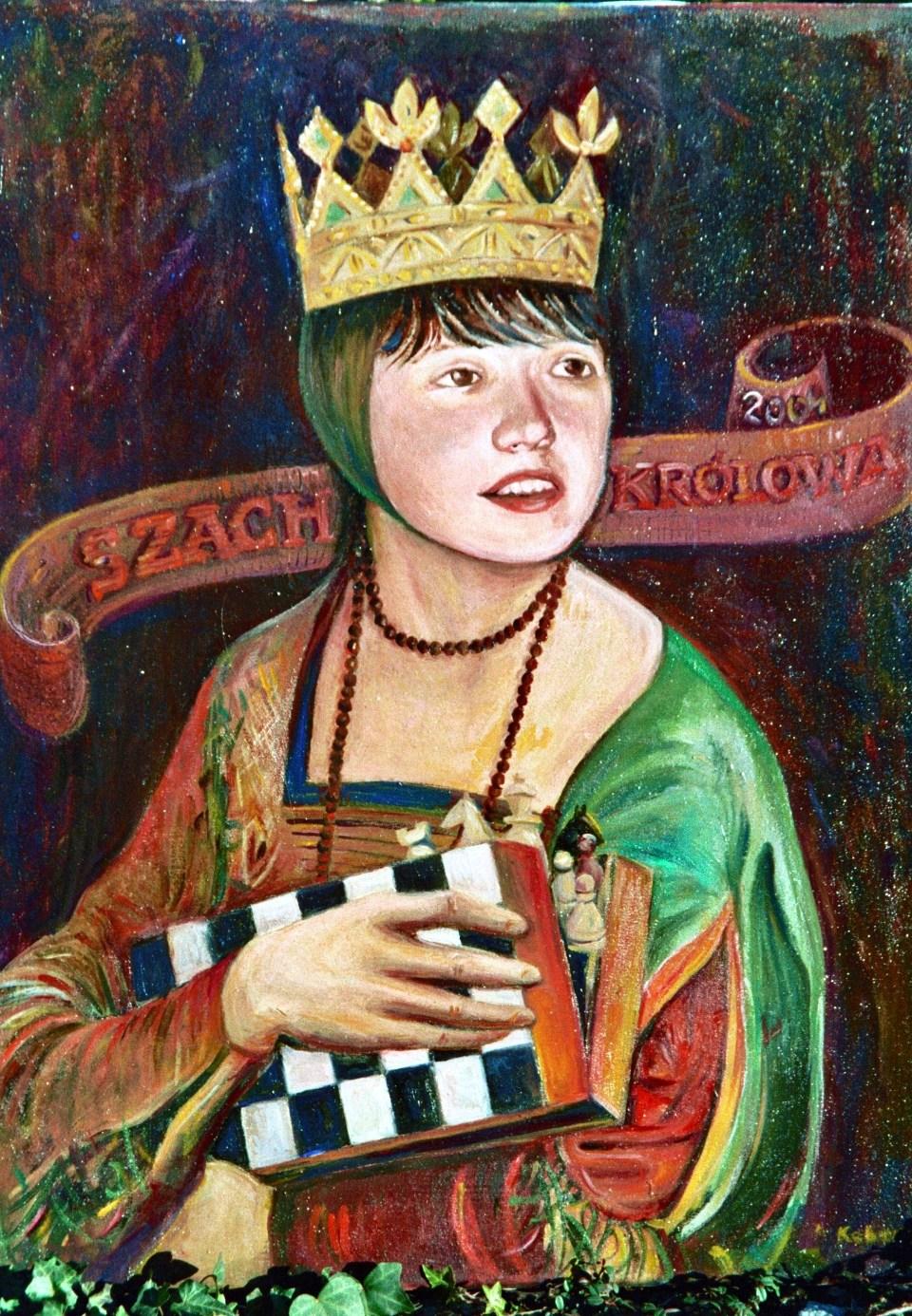 Jolanta Zawadzka, MUKS MDK Śródmieście Wrocław, mistrzyni świata juniorek w 2004 roku, obraz, Barbara Kobarts, interaktywny podręcznik szachowy, piękno szachów,