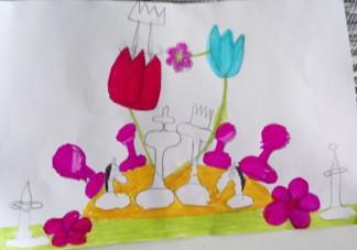 królewskie wesele, rysunek, autorka, 9 lat, Kinga Łupińskia, MUKS MDK Śródmieście Wrocław, eliminacje makroregionalne juniorów, Kudowa Zdrój, 14-20.10.2017, interaktywny podręcznik szachowy, szachy dla dzieci, rozgrywki szachowe, piękno szachów,