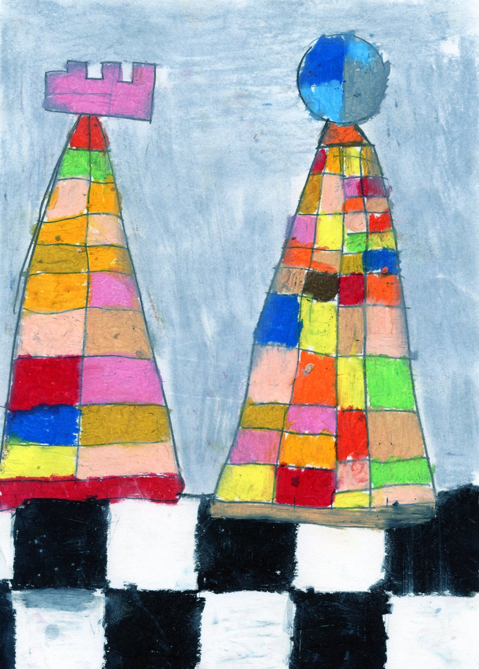 rysunek, autor, Jakub Krupnik, 14 lat, Specjalny Ośrodek Szkolno-Wychowawczy w Oświęcimiu, konkurs plastyczny, KRÓLEWSKA GRA, SZACHY dla dzieci, MDK Śródmieście Wrocław, listopad 2015, interaktywny podręcznik szachowy, piękno szachów,