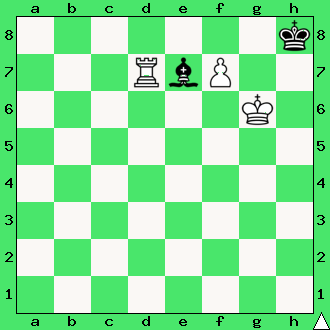wieża, matowanie wieżą, pion, pionek, daj mata w 2 ruchach, mat w dwóch posunięciach, zadanie, zadania szachowe, diagram, apronus, interaktywny podręcznik szachowy, król, lekcje szachów, nauka gry w szachy dla dzieci,