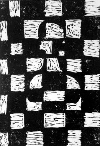 Linoryt, autorka, Dominika Tokon, Zespół Szkół w Marcinowicach, Konkurs plastyczny, KRÓLEWSKA GRA, SZACHY dla dzieci, MDK Śródmieście Wrocław, listopad 2015, piękno szachów, pionek, interaktywny podręcznik szachowy, epodrecznik, lekcje szachowe,