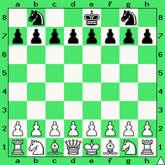 realizacja przewagi materialnej, wykorzystaj przewagę, gra z komputerem, interaktywny podręcznik szachowy, apronus, diagram, para skoczków, dwa skoczki, pionki, pion, król, ćwiczenie, lekcje szachowe, szachy dla dzieci,