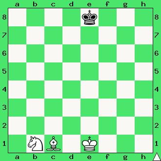 matowanie skoczkiem i gońcem, król, goniec, skoczek, reguła 50 posunięć, 50 ruchów bez bicia i bez ruchu pionem, interaktywny podręcznik szachowy, apronus, diagram, szachownica, epodrecznik, szachy dla dzieci, nauka szachów, przepisy szachowe,