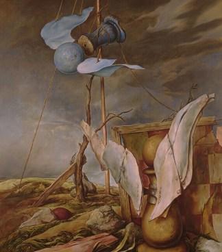 powyżej i poniżej, above and below, oil on canvas, olej na płótnie, Samuel Bak, malarstwo, szachy w sztuce, piękno w szachach, obraz olejny,