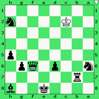 czarne dają mata w 2 posunięciach, matowanie ciężkimi figurami, diagram, apronus, interaktywny podręcznik szachowy, lekcje szachowe dla dzieci, lewin kłodzki, obóz szachowy, muks mdk śródmieście wrocław,