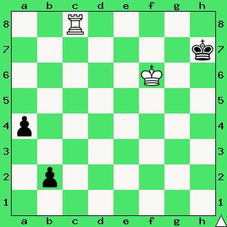 Bernhard Horwitz, Josef Kling, 1851, studium, wygrana, wieża, pionki, króle, diagram, apronus, interaktywny podręcznik szachowy, zadania szachowe studia, kompozycja szachowa,
