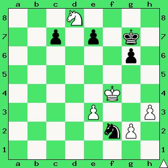 Andrzej Babiarz, 2016, studium, skoczki, pionki, króle, diagram, apronus, interaktywny podręcznik szachowy, zadania szachowe studia, kompozycja szachowa,