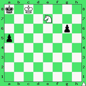 Andrzej Babiarz, 2017, studium, skoczek, pionki, króle, diagram, apronus, interaktywny podręcznik szachowy, zadania szachowe studia, kompozycja szachowa,