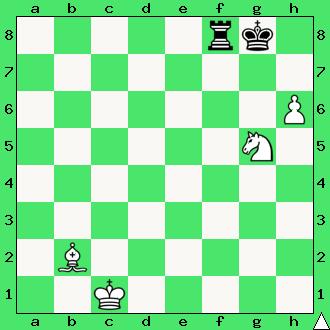 białe dają mata w 1 posunięciu, diagram, apronus, interaktywny podręcznik szachowy, lekcje szachowe dla dzieci, skoczek, goniec, matowanie gońcem i skoczkiem,