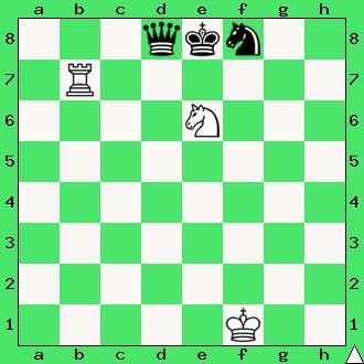 mat w jednym ruchu, białe dają mata w 1 posunięciu, diagram, apronus, interaktywny podręcznik szachowy, lekcje szachowe dla dzieci, skoczek, wieża, matowanie wieżą i skoczkiem,