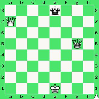 matuje para ciężkich figur, dwa hetmany, mat w jednym ruchu, białe dają mata w 1 posunięciu, diagram, apronus, interaktywny podręcznik szachowy, lekcje szachowe dla dzieci, matowanie dwoma hetmanami, mat przekładany, schodkowy, przekładaniec, kroczący,