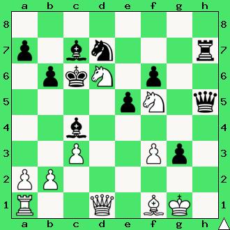 mat w 6 posunięciach, Filip Stamma, Essai sur le jeu des echecs, 1737, studium, wygrana, goniec, wieża, skoczki, piony, zadanie, taktyka, diagram, apronus, interaktywny podręcznik szachowy, lekcje szachowe, nauka gry w szachy dla dzieci, piękno szachów, współdziałanie figur,