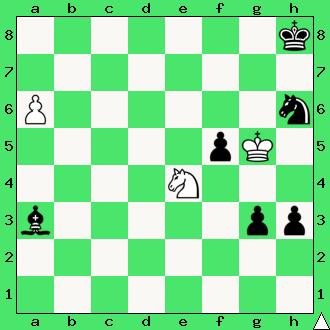 Wygrana, Studium, Mário Matouš, Ellerman MT, 1979, diagram, apronus, taktyka, hetman, skoczek, interaktywny podręcznik szachowy, lekcje szachowe, nauka gry w szachy dla dzieci, piękno szachów,
