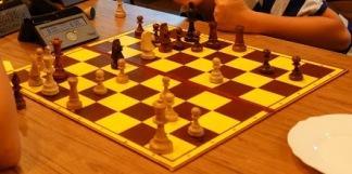 obóz, sekcja szachowa MUKS MDK Śródmieście Wrocław, Ośrodek Radosno, Sokołowsko, 9.07.2018, skoczek, hetman, szachowa rywalizacja, rozgrywki szachowe, szachowy turniej, szachy 960, szachy Fischera, mat hetmanem i skoczkiem, zwycięstwo i porażka,
