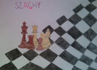 konkurs plastyczny, bajkowy świat szachów, miesięcznik mat, edukacja przez szachy w szkole, polski związek szachowy, rysunek, praca plastyczna, kurs interaktywny szachydzieciom.pl, bierki szachowe, szachownica, król, wieża, hetman, pionek, skoczek, goniec,