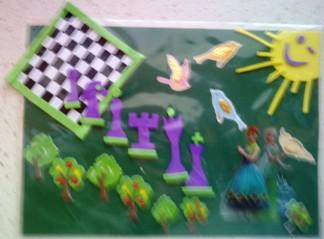 konkurs plastyczny, bajkowy świat szachów, miesięcznik mat, edukacja przez szachy w szkole, polski związek szachowy, rysunek, praca plastyczna, kurs interaktywny szachydzieciom.pl, szachownica, bierki szachowe, uśmiechnięte słonko, ptaszki,