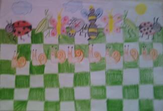 konkurs plastyczny, bajkowy świat szachów, miesięcznik mat, edukacja przez szachy w szkole, polski związek szachowy, rysunek, praca plastyczna, kurs interaktywny szachydzieciom.pl, szachownica, bierki szachowe, pszczółka, pajak, motyle, koniki polne, biedronki, ślimaki, słoneczko, chmurki,