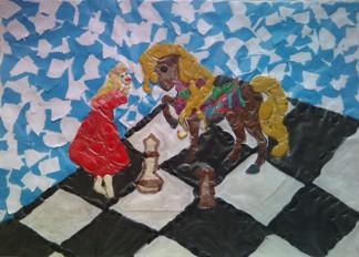 konkurs plastyczny, bajkowy świat szachów, miesięcznik mat, edukacja przez szachy w szkole, polski związek szachowy, rysunek, praca plastyczna, kurs interaktywny szachydzieciom.pl, szachownica, bierki szachowe,