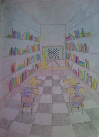 konkurs plastyczny, bajkowy świat szachów, miesięcznik mat, edukacja przez szachy w szkole, polski związek szachowy, rysunek, praca plastyczna, kurs interaktywny szachydzieciom.pl, szachownica, bierki szachowe, klasa, biblioteka, książki, ławki, tablica demonstracyjna, nauczyciel, uczniowie,