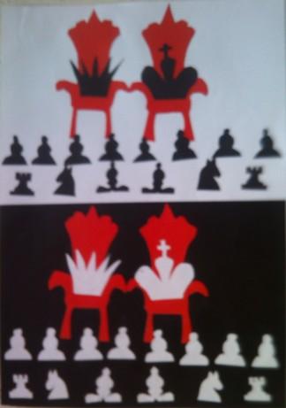 konkurs plastyczny, bajkowy świat szachów, miesięcznik mat, edukacja przez szachy w szkole, polski związek szachowy, rysunek, praca plastyczna, kurs interaktywny szachydzieciom.pl, bierki szachowe, tron,