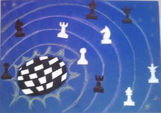konkurs plastyczny, bajkowy świat szachów, miesięcznik mat, edukacja przez szachy w szkole, polski związek szachowy, rysunek, praca plastyczna, kurs interaktywny szachydzieciom.pl, bierki szachowe, szachownica, orbity, kosmiczne szachy, szachowy układ planetarny,