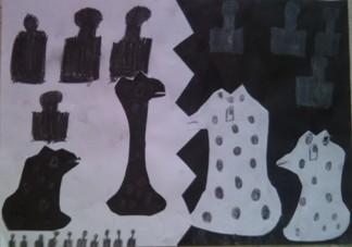 konkurs plastyczny, bajkowy świat szachów, miesięcznik mat, edukacja przez szachy w szkole, polski związek szachowy, rysunek, praca plastyczna, kurs interaktywny szachydzieciom.pl, bierki szachowe,
