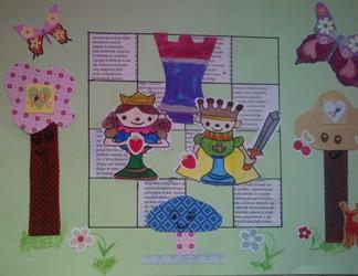 konkurs plastyczny, bajkowy świat szachów, miesięcznik mat, edukacja przez szachy w szkole, polski związek szachowy, rysunek, praca plastyczna, kurs interaktywny szachydzieciom.pl, bierki szachowe, szachownica, drzewa, tekst, motylki, ptaszki, owoce, jeleń, kwiatki,