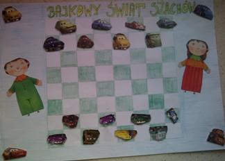 konkurs plastyczny, bajkowy świat szachów, miesięcznik mat, edukacja przez szachy w szkole, polski związek szachowy, rysunek, praca plastyczna, kurs interaktywny szachydzieciom.pl, autka, samochodziki, wyścigówki, szachownica, warcaby,