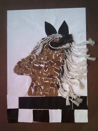 konkurs plastyczny, bajkowy świat szachów, miesięcznik mat, edukacja przez szachy w szkole, polski związek szachowy, rysunek, praca plastyczna, kurs interaktywny szachydzieciom.pl, skoczek, końska grzywa, szachownica,