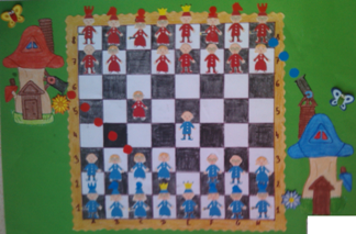 konkurs plastyczny, bajkowy świat szachów, miesięcznik mat, edukacja przez szachy w szkole, polski związek szachowy, rysunek, praca plastyczna, kurs interaktywny szachydzieciom.pl, bajkowa obrona sycylijska, szachownica, kule armatnie, motylki,