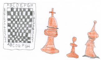 Rysunek, Bianka Stempin, 8 lat, Obóz szachowy, Sokołowsko, 4-14.07.2018,