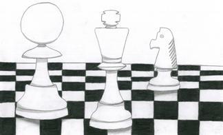 Rysunek, Patrycja Dzielendziak, 12 lat, Obóz szachowy, Sokołowsko, 4-14.07.2018,