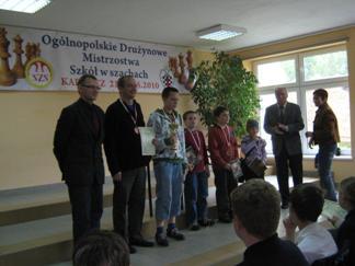 Andrzej Mozelan (organizator), Robert Korpalski (opiekun), Szymon Brzechffa, Maciej Korpalski, Adam Woźniak, Zofia Frej.