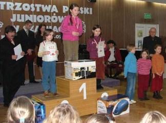 Judyta Lachowicz, Katarzyna Murawko, Dominika Ociepka, Mistrzostwa Polski Juniorek do lat 8, Kołobrzeg, 2005.