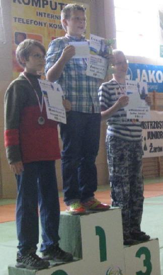 Franciszek Sernecki, Michał Hołownia, Bartosz Kosiński, Mistrzostwa Dolnego Śląska Juniorów, Żarów, 22.09.2013.