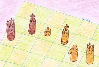Oliwia wieża skoczek mat w 2 posunięciach
