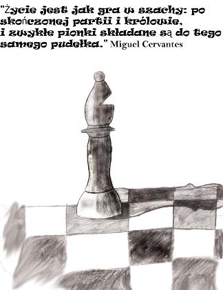 Goniec i koniec… Rysunek Wojciecha Hrycyka.