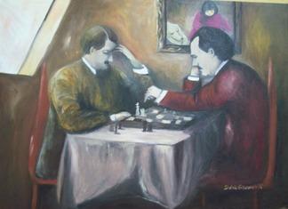 Hitler z Leninem grają w szachy.