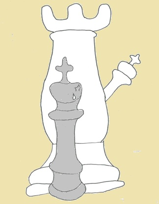 Wieża z królem matują samotnego króla. Autor: Mateusz Mróz - uczeń Gimnazjum nr 13 im. Unii Europejskiej we Wrocławiu.