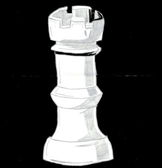 Rysunek z lekcji szachów Filipa Borsa ucznia Gimnazjum nr 13 im. Unii Europejskiej we Wrocławiu.