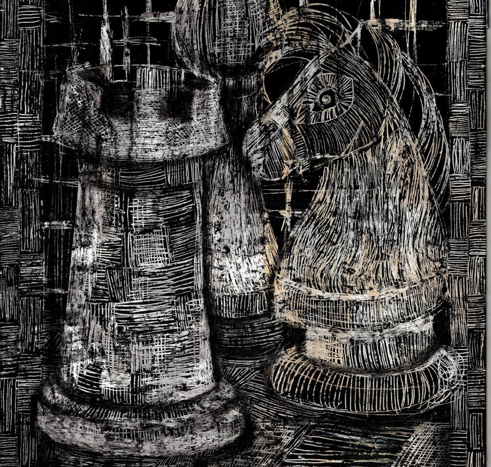 Rysunek – Barbara Kotkowska (20 lat, Zespół Szkół Specjalnych w Bielsku-Białej). Konkurs KRÓLEWSKA GRA – SZACHY (nagroda), MDK Śródmieście Wrocław, listopad 2015.