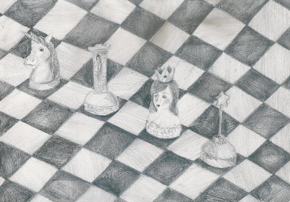 Rysunek - Julia Huzarska, lat 17 (Młodzieżowy Dom Kultury Śródmieście we Wrocławiu, pracownia plastyczna Bartosza Hęćki).
