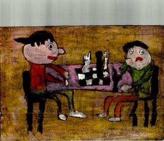 Rysunek - Sara Grabska (5 lat, Przedszkole nr 77 we Wrocławiu). Konkurs KRÓLEWSKA GRA - SZACHY (nagroda), MDK Śródmieście Wrocław, listopad 2015.