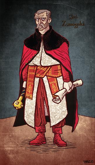 Hetman Jan Zamoyski. Autor rysunku - Jacek Brzozo Kuziemski.