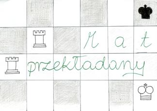 Mat przekładany. Rysunek - Zuzanna Wojtala (uczennica Gimnazjum nr 13 im. Unii Europejskiej we Wrocławiu).
