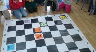 oznaczenia pól, szachownica, nazwy pól,