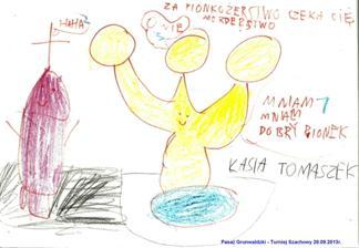 Pionkożerstwo. Autorka rysunku z 2013 roku - Katarzyna Tomaszek (uczennica Szkoły Podstawowej nr 91 im. Orląt Lwowskich we Wrocławiu).