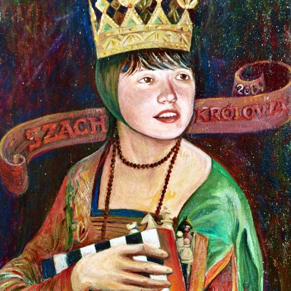 Jolanta Zawadzka (MUKS MDK Śródmieście Wrocław) – mistrzyni świata juniorek w 2004 roku. Obraz Barbary Kobarts.